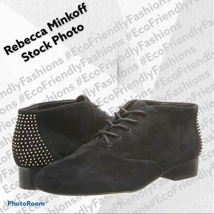 Rebecca Minkoff Black Suede Paige Too Ankle Boots